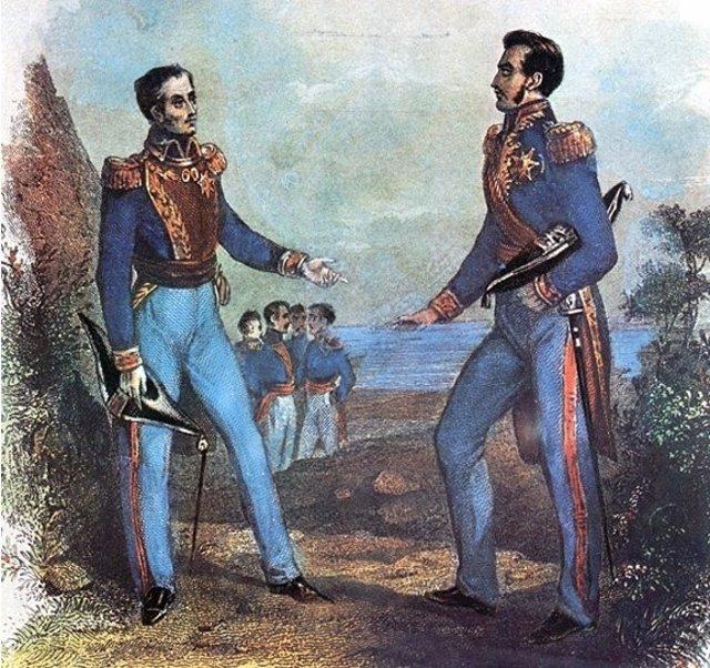 José de San Martín y Simón Bolívar