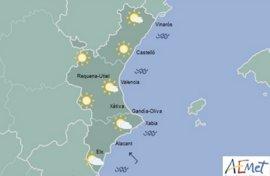 Las lluvias dejan paso a cielos despejados para todo el fin de semana salvo en Alicante