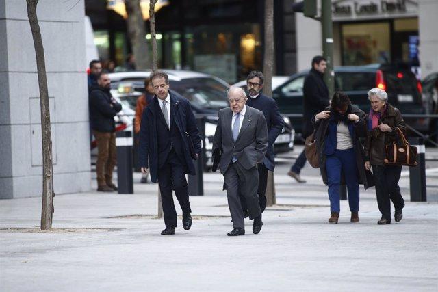 Jordi Pujol y Marta Ferrusola llegan a la Audiencia Nacional