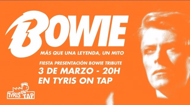 Cartel del evento sobre David Bowie