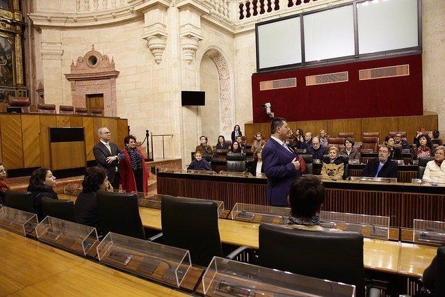 El presidente del Parlamento de Andalucía, Juan Pablo Durán, en jornada abierta