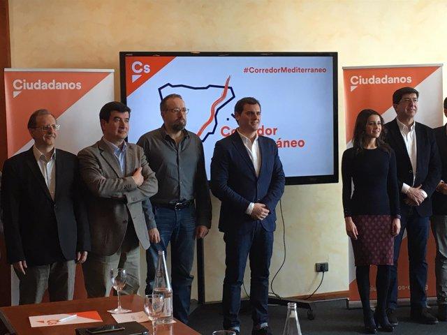 Fernando Giner, J.C.Girauta, Albert Rivera, Inés Arrimadas, Juan Marín