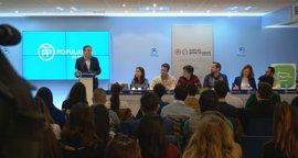 """PP-A llama a los jóvenes a participar en el congreso regional, """"antesala"""" para llevar a Moreno a la Junta"""