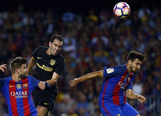 Godín, Atlético de Madrid contra Barcelona