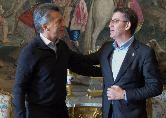 Foto Do Presidente Da Xunta, Alberto Núñez Feijóo, Na Xuntanza Que Mantivo Hoxe