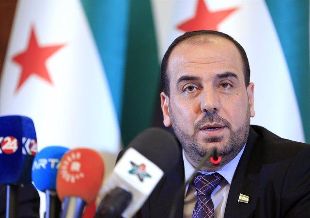 Jefe del Alto Comité de Negociaciones sirio, Nasr al Hariri