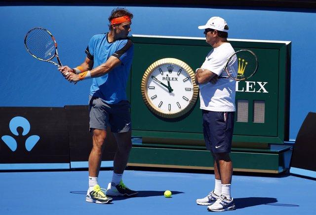 Rafa y Toni Nadal