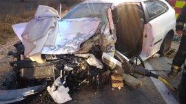 Una joven fallece y tres personas resultan heridos graves en un accidente en Campo Real