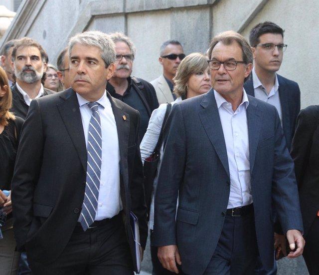 Francesc Homs y Artur Mas