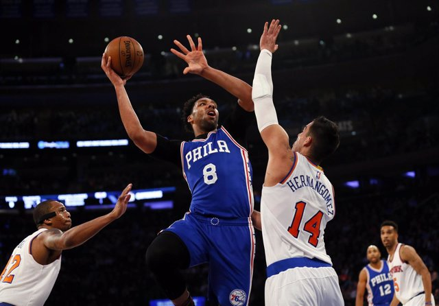 Willy Hernangómez New York Knicks Philadelphia Sixers Jahlil Okafor