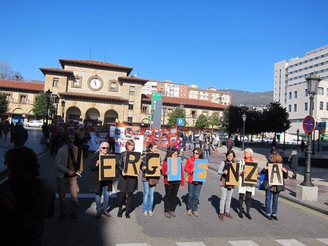 Manifestación en favor de los refugiados