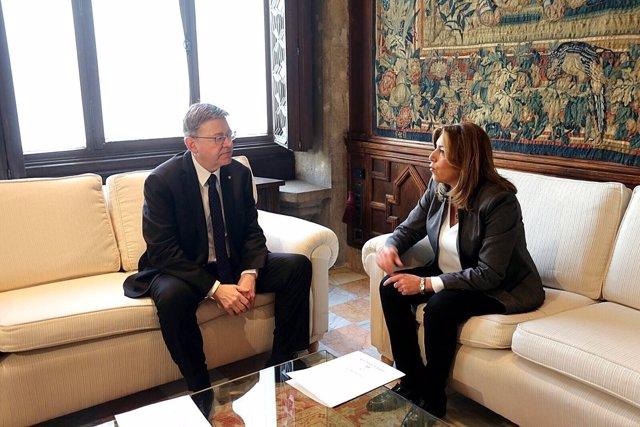 Puig y Díaz antes de comenzar su reunión