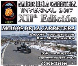 Hoyos del Espino (Ávila) acoge el 5 de marzo la XII ruta mototurística 'Invernal'