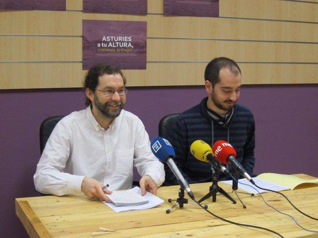 Los diputados de Podemos Asturies Emilio León y Héctor Piernavieja