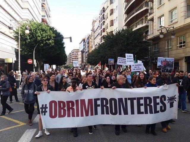 La manifestación ha recorrido el centro de la ciudad