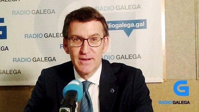 El presidente de la Xunta, Alberto Núñez Feijóo
