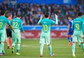 Messi se desmarca en el Pichichi