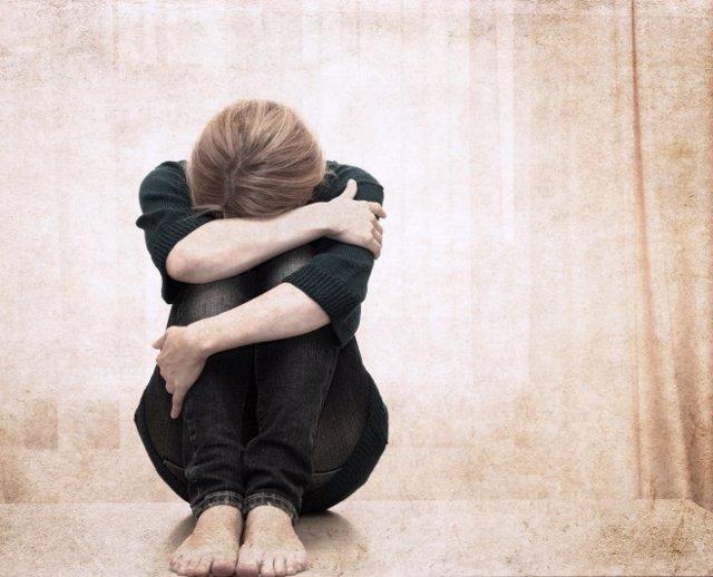 Depresión, mujer, dolor