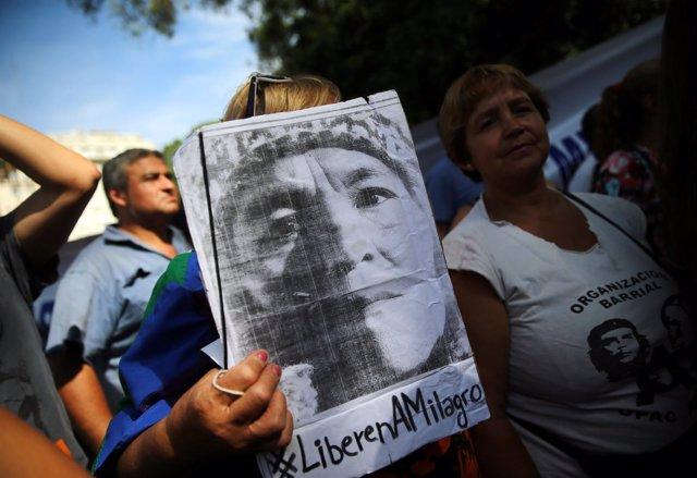 Manifestaciones a favor de Milagros Sala