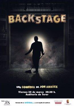 Cartel de la obra de teatro 'Backstage'
