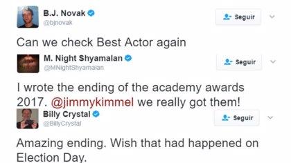 """Hollywood reacciona al escándalo de los Oscar: """"Ojalá hubiera pasado esto en las elecciones"""""""