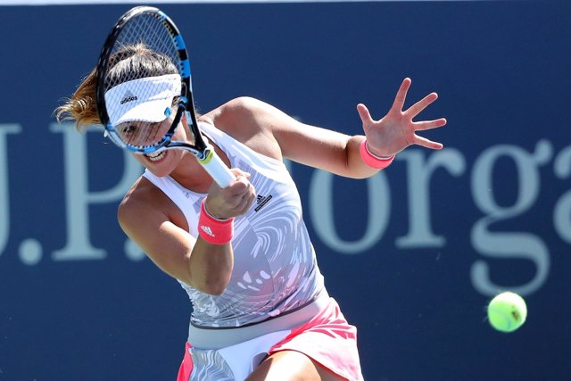 Garbñe Muguruza en el US Open