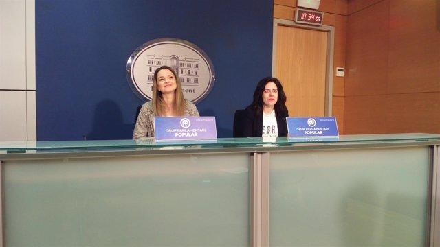 Margalida Prohens y Sandra Fernández