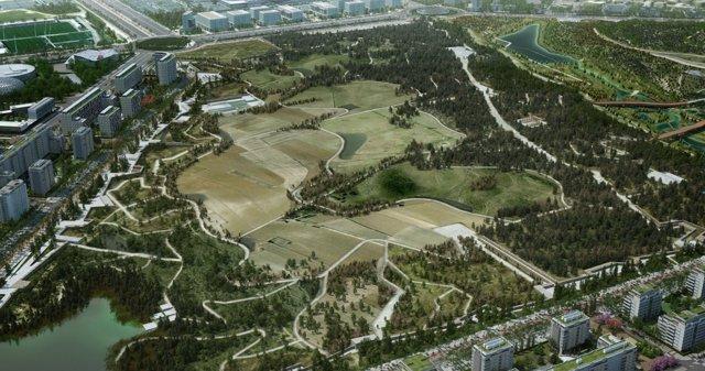 Recreación del Parque Central Valdebebas