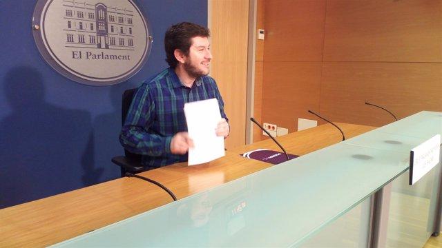 El secretario general de Podemos, Alberto Jarabo