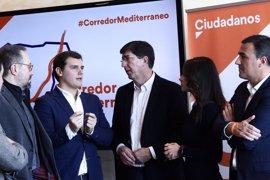 """Marín asegura que el Corredor Mediterráneo es una """"prioridad absoluta"""" para Cs y critica la """"inoperancia"""" de PP y PSOE"""