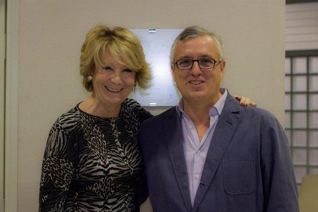 Esperanza Aguirre y Luis Asúa