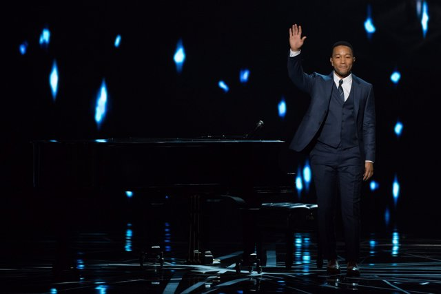 John Legend performs at The 89th Oscars at the Dolby Theatre in Hollywood, CA on