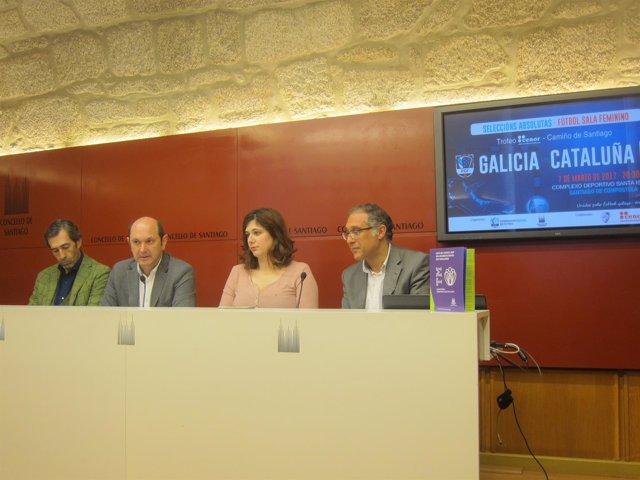 Presentación del partido de futbol sala femenino Galicia - Cataluña