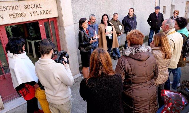 Visita a las obras de rehabilitación de la sede de la AAVV del Grupo Velarde
