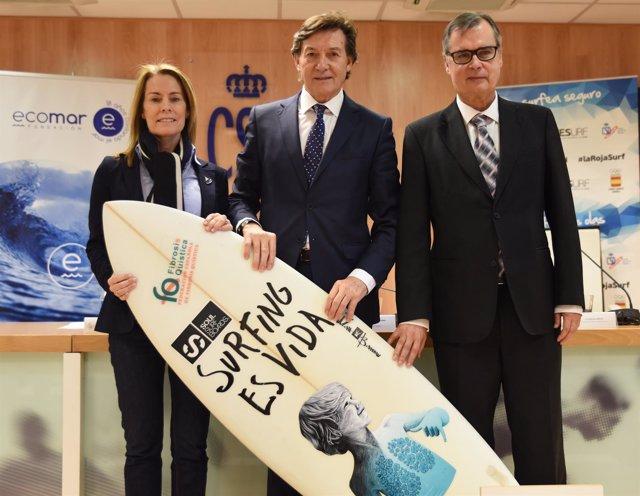 Theresa Zabell y José Ramón Lete en la sede del CSD