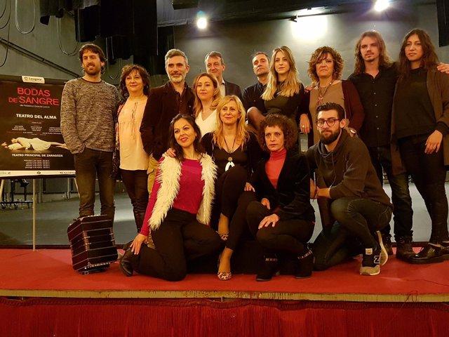 """La compañía """"Teatro del Alma"""" representa  """"Bodas de sangre"""" en el Principal"""