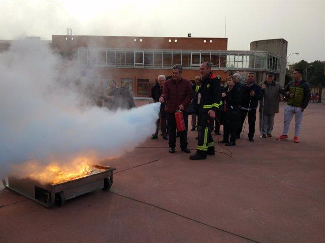 Salamanca: Una de las actividades para formación de personas ciegas
