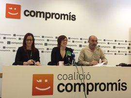"""Compromís dice """"no es no"""" a las Diputaciones y estudia transferir sus competencias a otras administraciones"""