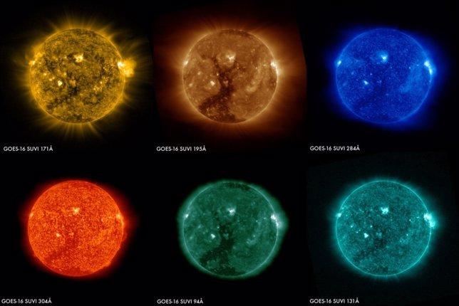 Imágenes del Sol tomadas por SUVI el 29 de enero
