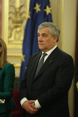 El presidente del Parlamento Europeo, Antonio Tajani, visita el Congreso