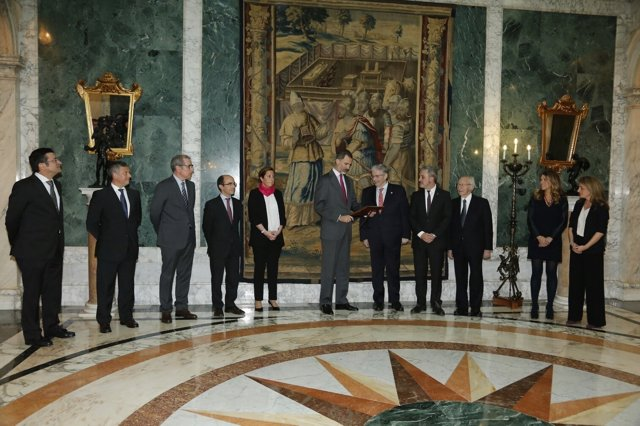 El Rey recibe en audiencia al comité ejecutivo del CZFB