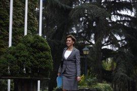 """Cospedal evita caer en """"provocaciones"""" de ERC, que le pregunta si va a haber intervención militar en Cataluña"""