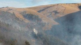 Cuatro incendios forestales están activos en Cantabria