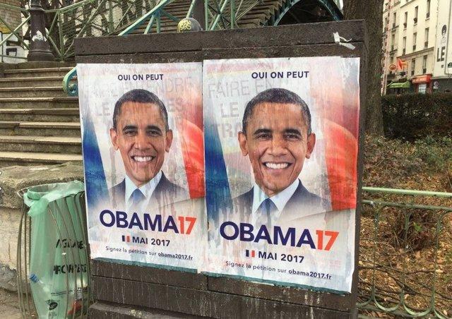 Cartel de campaña de Obama para la Presidencia de Francia