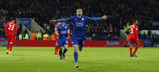 Jamie Vardy Leicester Liverpool Premier