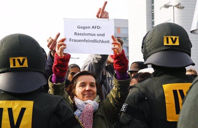 Manifestación contra el racismo en Alemania