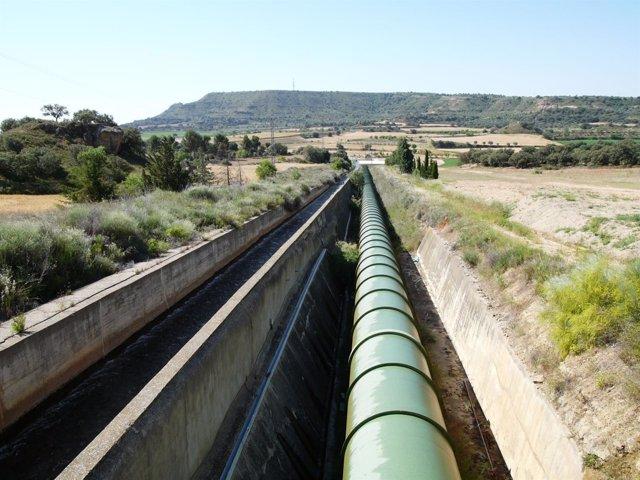 Imagen de la tubería de conexión que se ha instalado