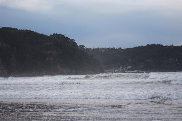 Olas temporal Asturias