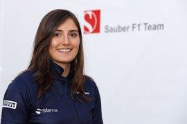 La colombiana Tatiana Calderón, piloto de desarrollo de Sauber en 2017