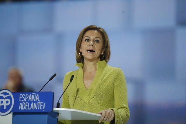 Maria Dolores de Cospedal durante el Congreso del PP